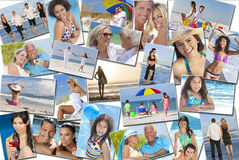 Feriado das férias da praia da família das crianças das mulheres dos homens dos povos Foto de Stock Royalty Free
