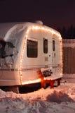 Feriado de acampamento do inverno Fotografia de Stock