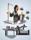 Feriado de Hollouin do medo e do horror ilustração do vetor