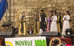 Feriado de Novruz Bayram na capital da república de Azerbaijão na cidade de Baku 22 de março de 2017 Imagem de Stock Royalty Free