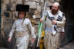 Feriado de Sukkot no Jerusalém fotografia de stock