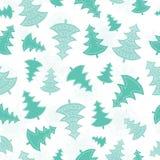 Feriado dispersado verde da floresta das árvores de Natal do vetor Imagem de Stock