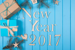 Feriado 2017 do ano novo feliz Fotografia de Stock