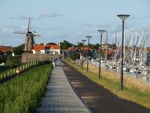 Feriado do ciclismo de Rotterdam a Bruges Fotografia de Stock