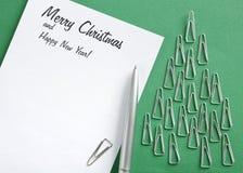 Feriado do cumprimento e árvore do feriado Imagem de Stock