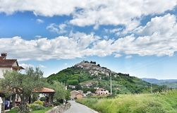 Feriado do curso de Istria da Croácia de Motovun imagens de stock