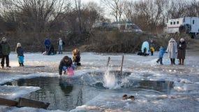 Feriado do esmagamento em Primorsky Krai Nadar no furo imagens de stock royalty free