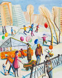 Inverno do feriado ilustração royalty free