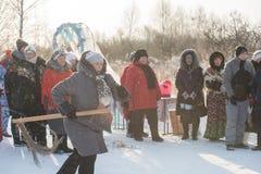 Feriado do zimovka de Altaiskaya - o primeiro dia do inverno imagens de stock royalty free