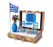 Feriado em Greece foto de stock