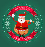 Feriado feliz de Santa Imagem de Stock Royalty Free