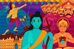 Feriado feliz do forIndia do fundo do festival de Dussehra Fotografia de Stock