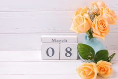 Feriado fundo do 8 de março com flores Fotografia de Stock Royalty Free