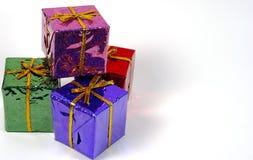 Feriado Giftboxes Imagem de Stock