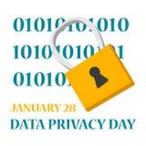 Feriado global do dia da privacidade de dados Informação de Digitas ilustração stock