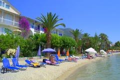 Feriado grego da praia do recurso Imagem de Stock