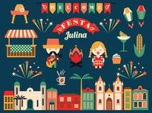 Feriado latino-americano, o partido de junho de Brasil Imagem de Stock