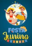 Feriado latino-americano, o partido de junho de Brasil Ilustração do vetor Fotografia de Stock