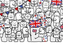 Feriado nacional - Inglaterra ilustração royalty free