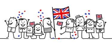 Feriado nacional - Inglaterra ilustração stock