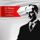 Feriado nacional nacional turco do ` s da soberania e das crianças ilustração royalty free