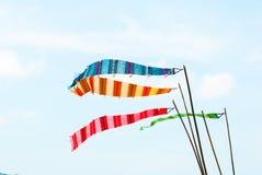 Feriado ornamentado festivo de Songkran das bandeiras da decoração Imagem de Stock