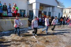 Feriado popular Maslenitsa do russo na região de Kaluga Imagens de Stock