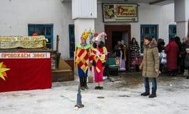 Feriado popular Maslenitsa do russo na região de Kaluga Fotos de Stock