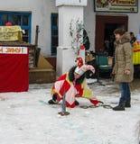 Feriado popular Maslenitsa do russo na região de Kaluga Fotografia de Stock Royalty Free