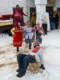 Feriado popular Maslenitsa do russo na região de Kaluga Foto de Stock