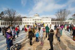 Feriado religioso e popular Maslenitsa do russo Foto de Stock