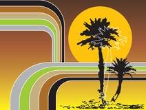 Feriado tropical das listras retros ilustração stock