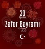 Feriado Zafer Bayrami 30 Agustos de Turquia Ilustração Royalty Free