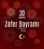 Feriado Zafer Bayrami 30 Agustos de Turquia Fotos de Stock Royalty Free