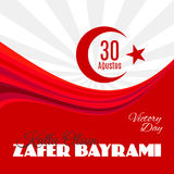 Feriado Zafer Bayrami 30 Agustos de Turquia Imagens de Stock