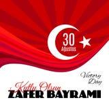 Feriado Zafer Bayrami 30 Agustos de Turquia Ilustração do Vetor