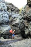 Feriados ativos nas Ilhas Canárias do La Palma Fotos de Stock