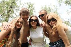 Feriados com amigos Fotos de Stock Royalty Free