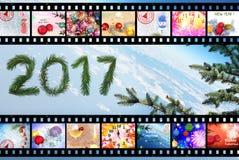 Feriados de inverno 2017 celebration Sumário Fotografia de Stock Royalty Free