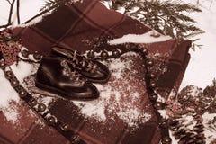 Feriados de inverno do vintage fotografia de stock