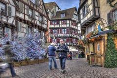 Feriados de inverno em Colmar Fotos de Stock Royalty Free