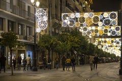 Feriados de inverno em Sevilha, Espanha fotografia de stock royalty free