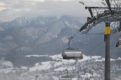 Feriados de inverno em Zakopane fotografia de stock