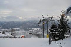 Feriados de inverno em Zakopane fotografia de stock royalty free