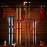 Feriados do Natal com família ilustração do vetor