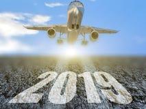 2019 feriados dos fligths viajam aviação do avião - rendição 3d ilustração royalty free