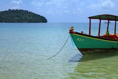 Feriados em Camboja vista bonita da praia Mundo impressionante do curso Resto do verão imagens de stock royalty free