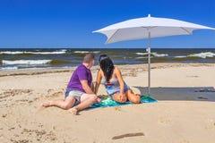 Feriados no mar Báltico Fotos de Stock Royalty Free