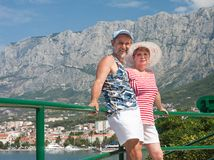 Feriados no mar. Croatia Fotos de Stock Royalty Free