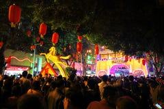 Ferias lunares de la flor del Año Nuevo Imagenes de archivo